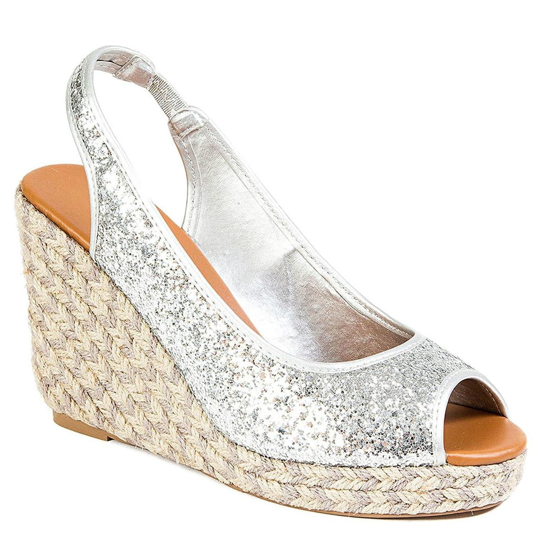 Glitter Open toe Wedge Sandal Platform Women's shoes