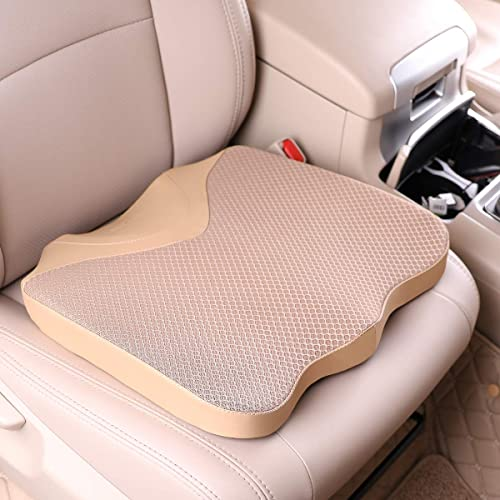 KINGLETING Car Seat Cushion, Driver Seat Cushion Height, Provides Good Driving Visibility