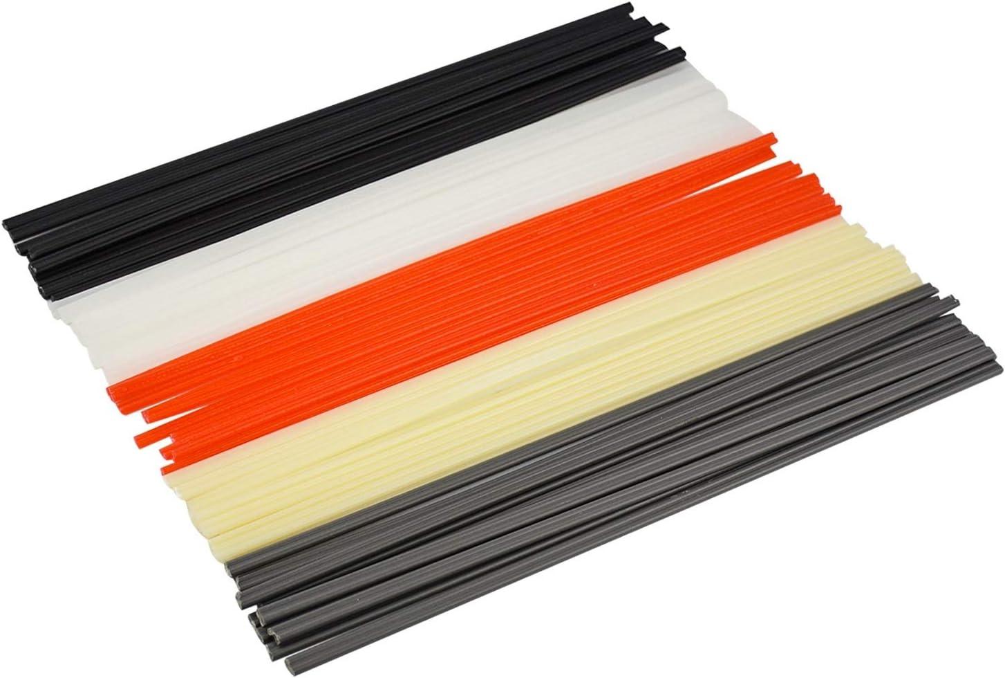 OIMERRY 50PCS 9.8'' Length, PP/PVC/PE Plastic Welder Repair Rods for Hot Air Heat Gun