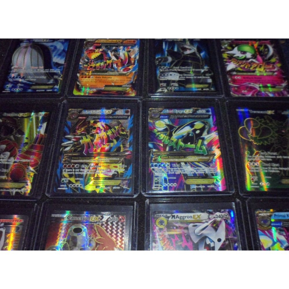 Pokemon 55 Card Lot: 1 Full Art OR 1 EX OR Secret Rare Card 4 Holo/Reverse/Normal Blackstar Rares 50 Common/Uncommon Cards