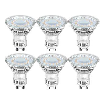 LE Bombillas LED, GU10 4W Equivalente 50W Halógena, Blanco cálido 2700K, Pack de