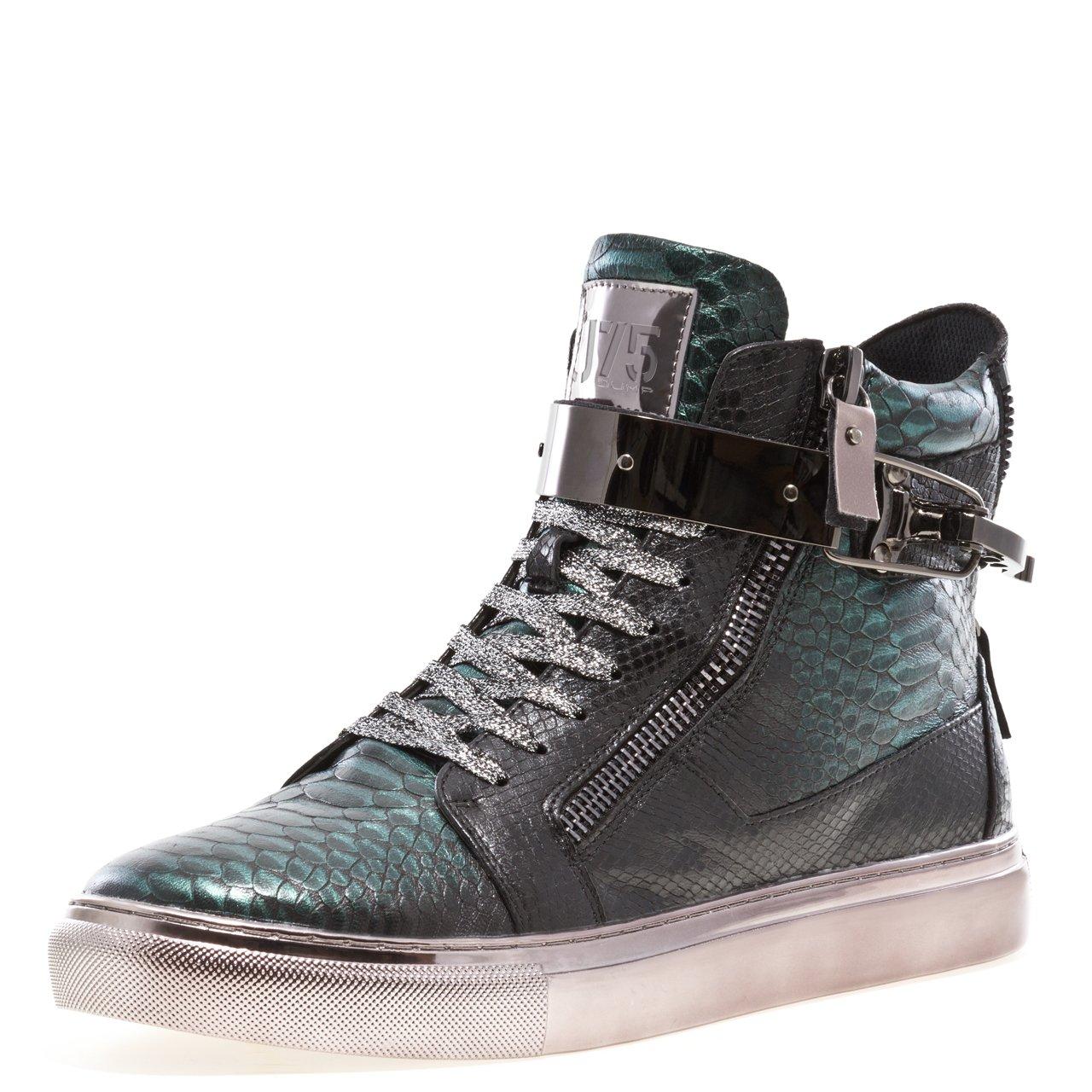 J75 by Jump Men's Zeus High-Top Fashion Sneaker Green Viper 11 D US by Jump