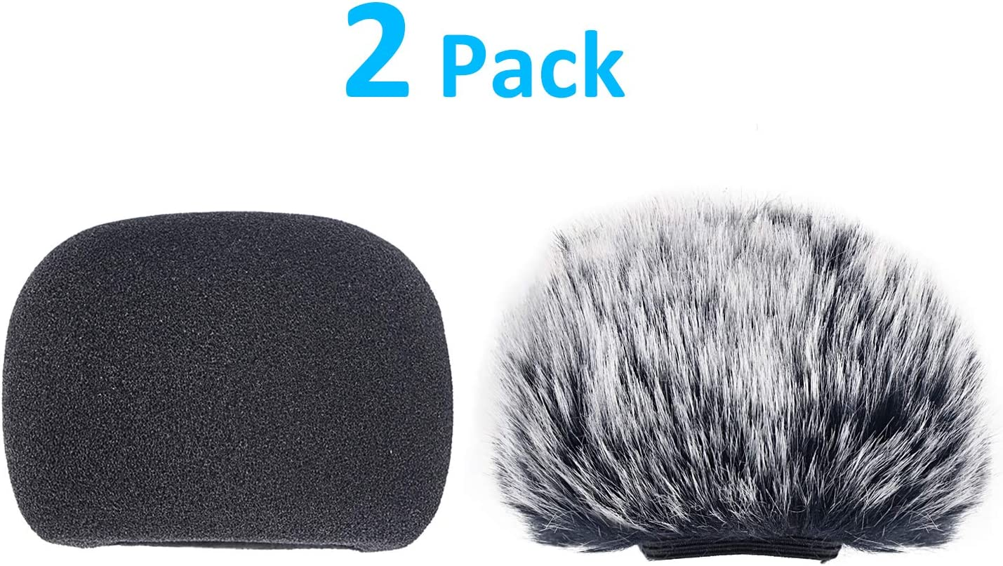 YOUSHARES DR05X Windscreen Muff and Foam for Tascam DR-05X DR-05 Mic Recorders 2 PACK DR05X Indoor Outdoor Microphone Wind Screen