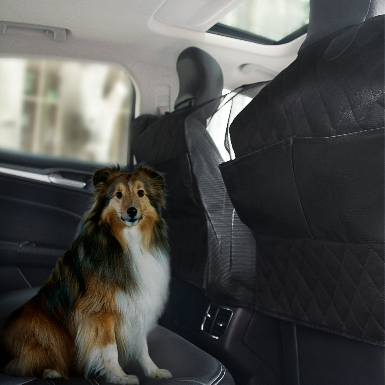 APPHOME Pet Car Net Barrier, Pet Isolation Net Backseat Car Universal Mesh Vehicle Van Back Seat Dog Barrier Mesh Safety Travel (with Storage Bag)