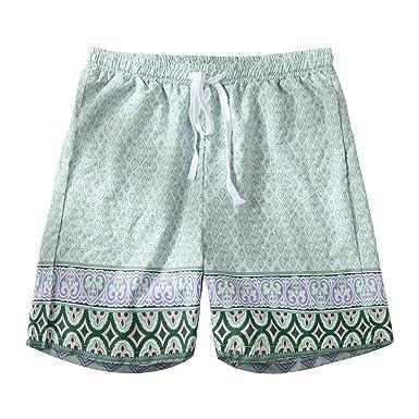 YEBIRAL Pantalones Cortos Hombre, Verano Playa Hawaiana ...