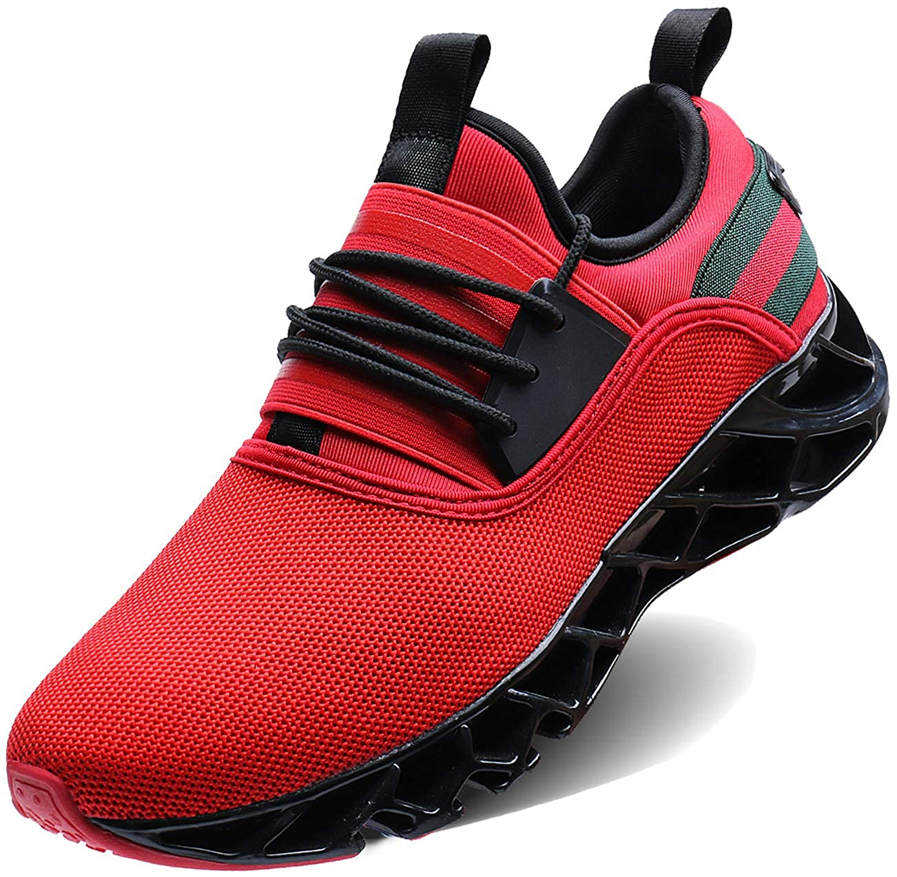 Red_2 Wonesion Mens Womens Water Sport shoes Quick Dry Aqua Socks Barefoot Outdoor Beach Swim Surf Pool Yoga shoes