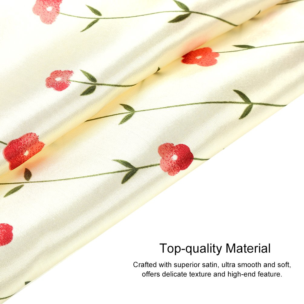 VBIGER 12PCS Womens Mixed Silk Square Scarves Bandana Scarf 50x50cm (Design 2)