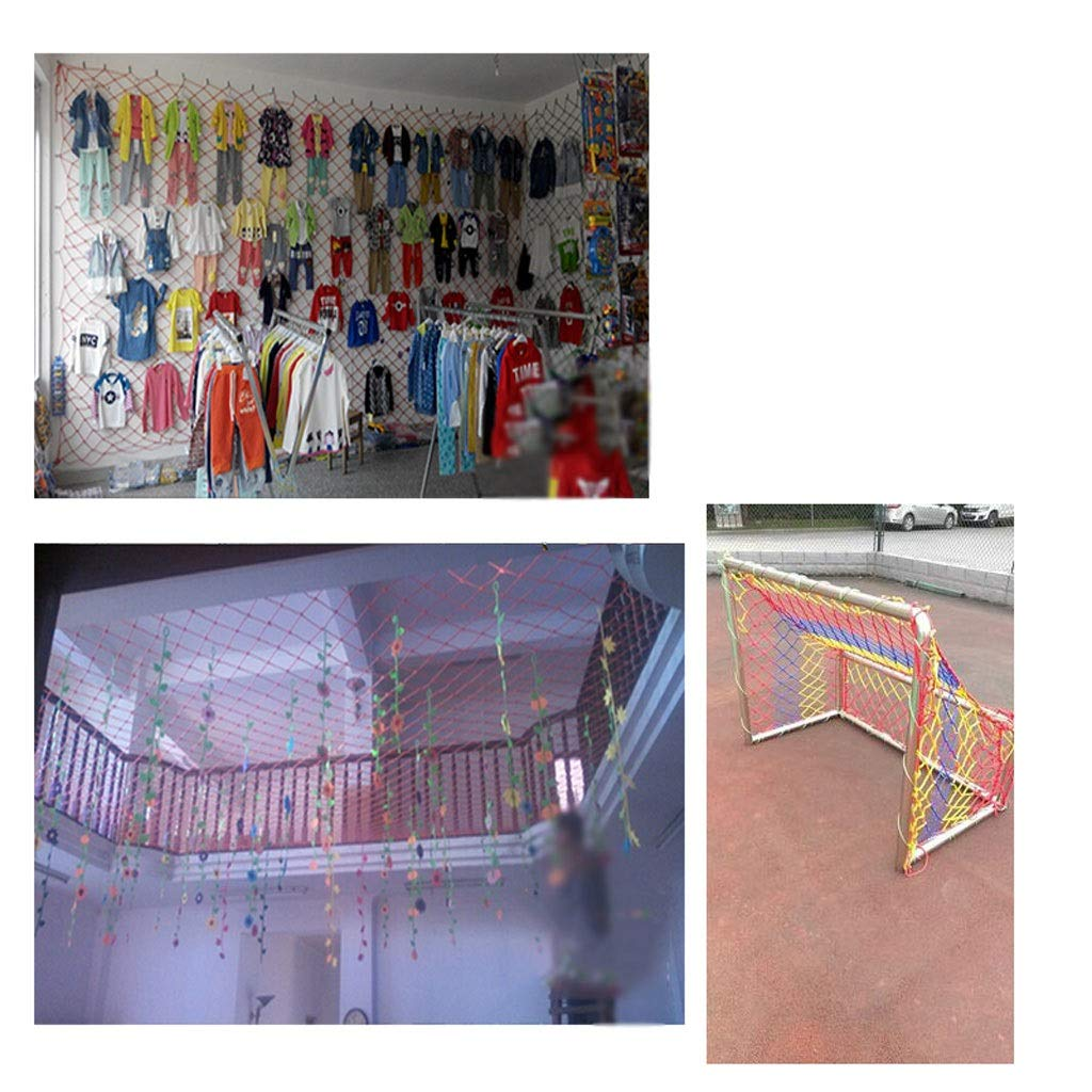 Rete di decorazione Rete Di Sicurezza Per Bambini Rete A Mano 3x4m Rete protettiva Rete Di Recinzione A Rete Decorativa Colorata Rete Infrangibile Rete Di Protezione Per Balconi Asilo Nido
