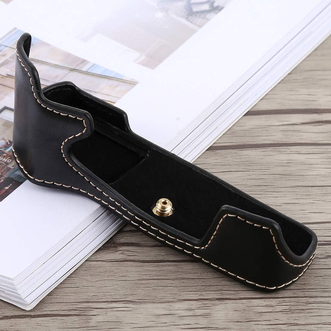 EM5 Mark II Black Color : Black YANTAIANJANE Camera Accessories 1//4 inch Thread PU Leather Camera Half Case Base for Olympus EM5