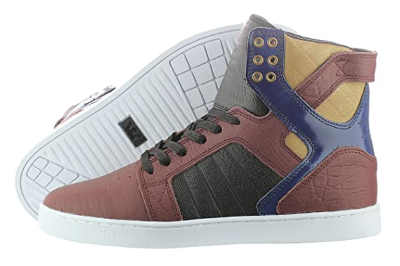 e12f22219f9a Amazon.com  Supra Skytop LX S67006-BNN Burgundy Navy White Men s ...