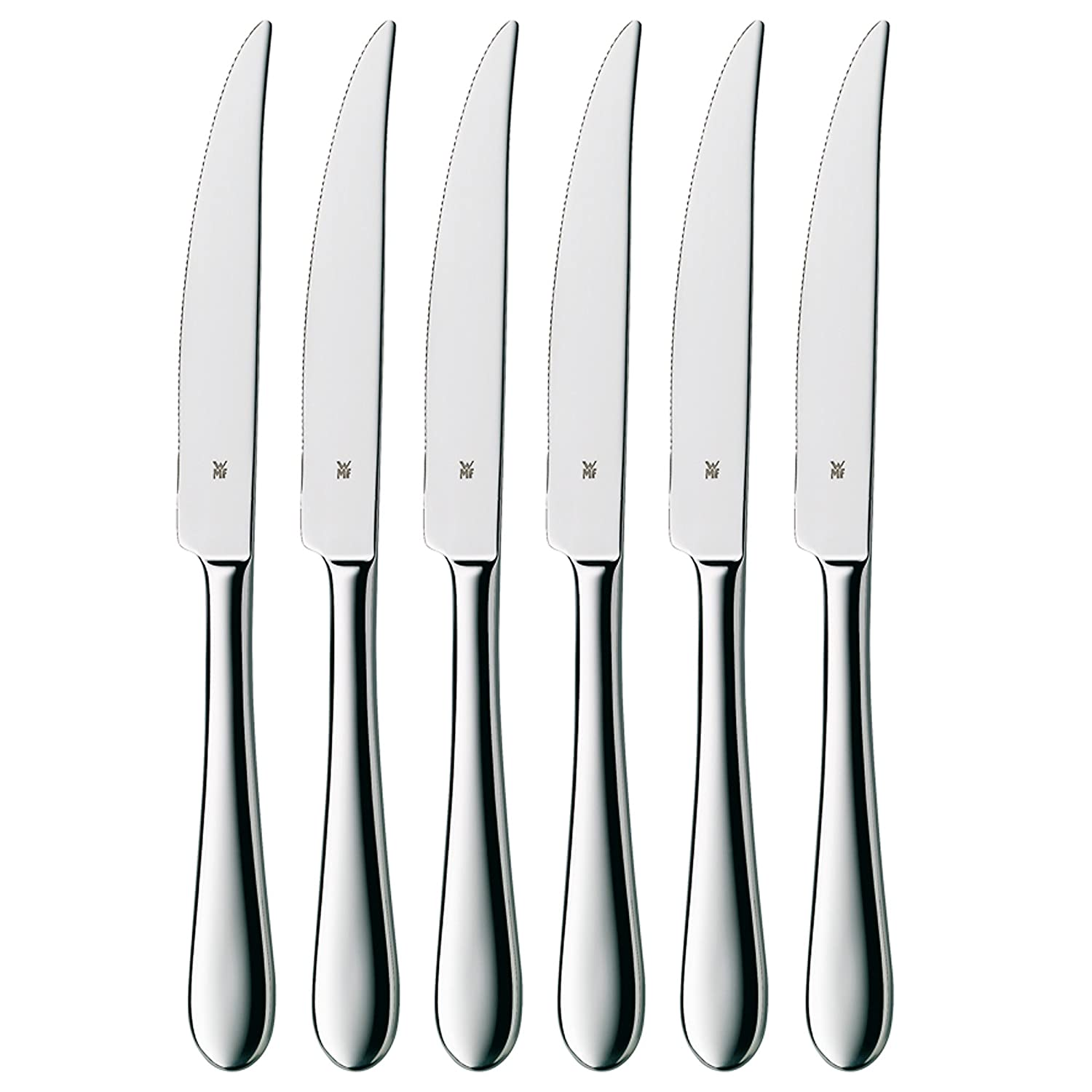 WMF Set of 6 Signum Stainless Steel Steak Knives 8400001675
