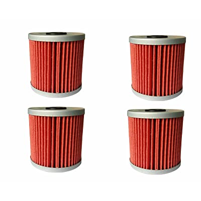 shamofeng (Pack of 4) Oil Filter for Kawasaki Replacement Oil Filter 16099-004 KLF250 KL250 KLR650, 16099-004 Replace HF123 KN123: Automotive