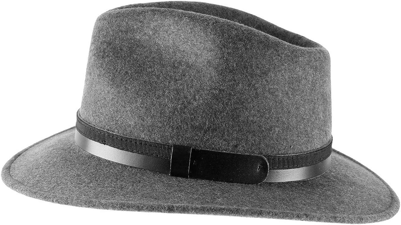 5 Coloris Chapeau Fedora Pliable imperm/éable Feutre Classic Italy Homme Classic Traveller III