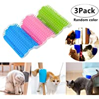 3 Pack Cat Self Groomer, Magnoloran Cats Corner Groomers Soft Wall Corner Massage Combs Grooming Brush Soft Rubber Bristles Perfect Massager Deshedding Tool for Long & Short Fur Kitten Puppy