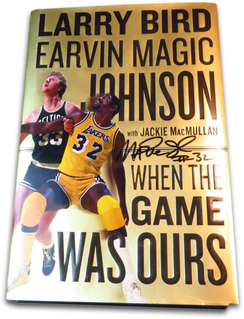 """Magic Johnson Signed Autographed Book """"When the Game Was Ours"""" Lakers Bird w/COA"""