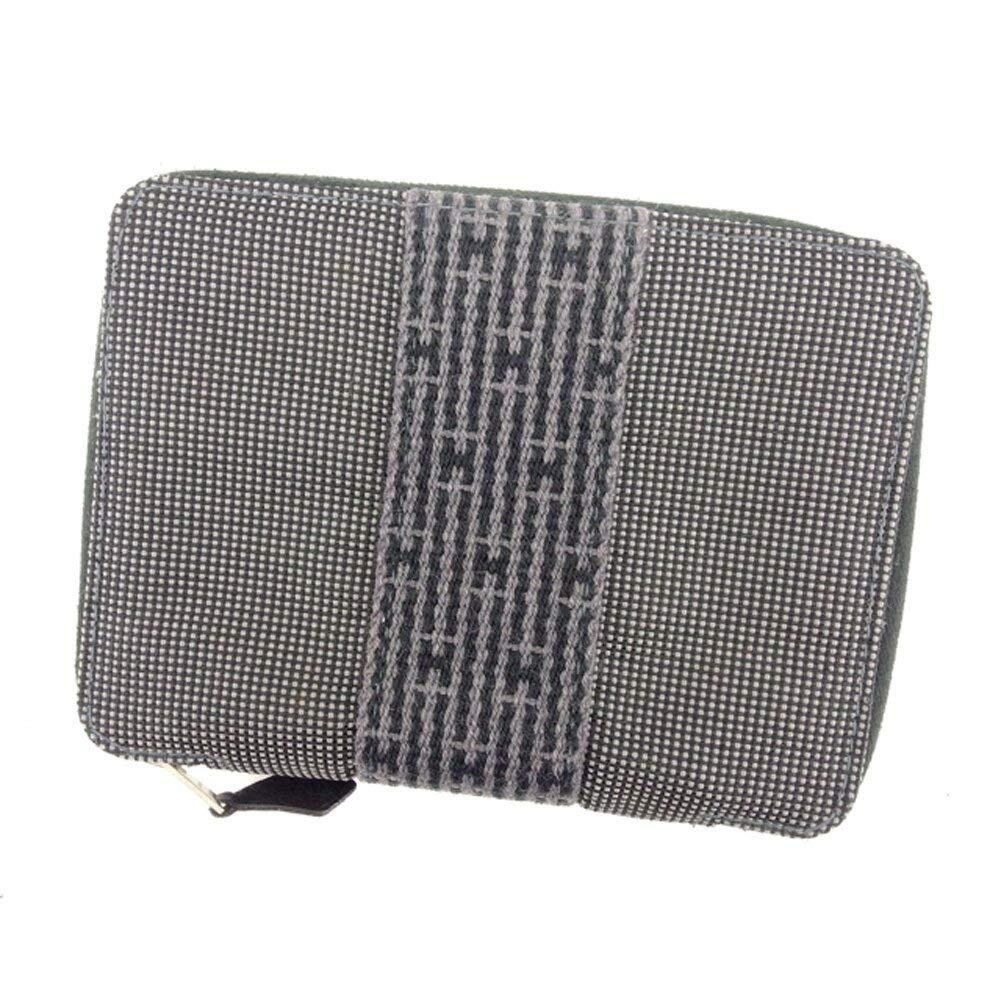 (エルメス) Hermès 手帳カバー アジェンダ グレー 灰色 ブラック シルバー エールライン メンズ可 中古 T8024   B07HMM2RGW