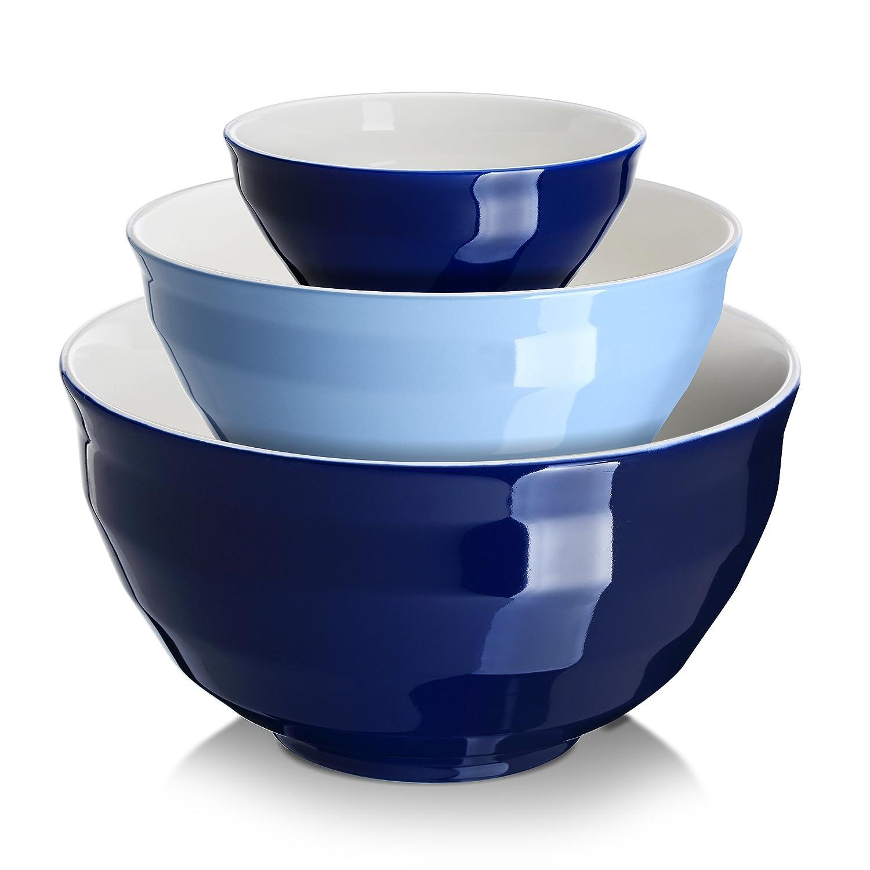 Amazon.com: DOWAN Ceramic Mixing Bowls/Serving Bowl Set, Non-slip ...