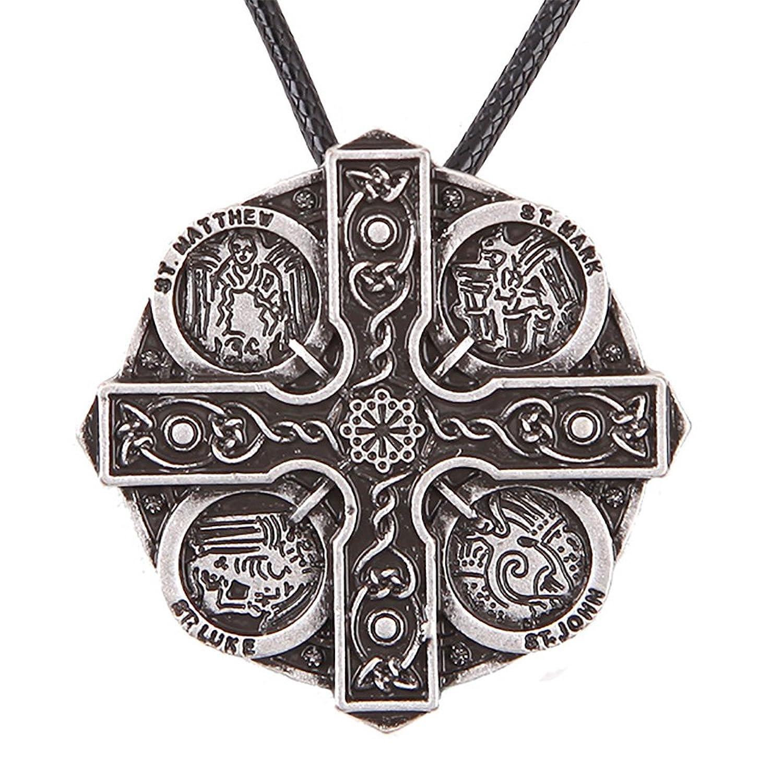 Kells Cross Pendant Necklace St.Saint John Mark Matthew Luke Religious Protection Talisman 4049