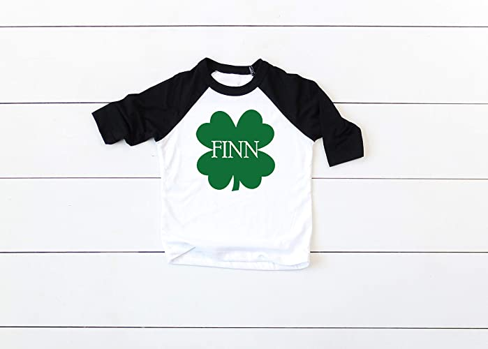 daba106f3 Image Unavailable. Image not available for. Color: Personalized St Patricks  Day Shirt For Toddler Boy Shamrock ...