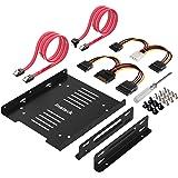 Inateck Kit Montaggio telaio interno Convertitore per 2 x HDD o SSD 2.5 pollici a presa HDD o SSD da 3.5 pollici, Frame Interna Duplex, include 2 x Cavi Dati e 2 x Cavi alimentazione (ST1004)