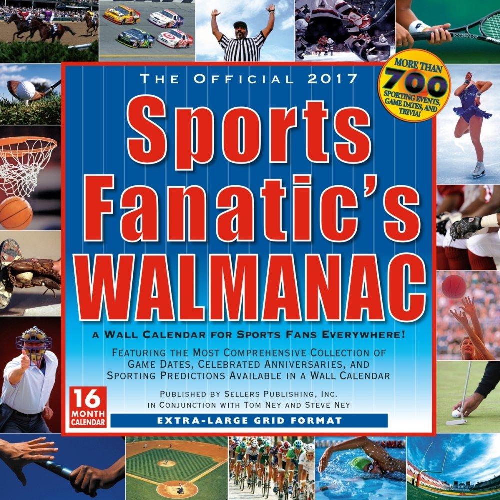 Fanático de los deportes de walmanac 2017 calendario de pared ...