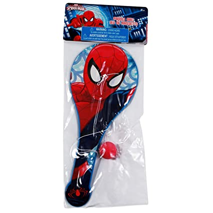 Amazon.com: Marvel Ultimate Spider-Man Paddle Ball: Toys & Games