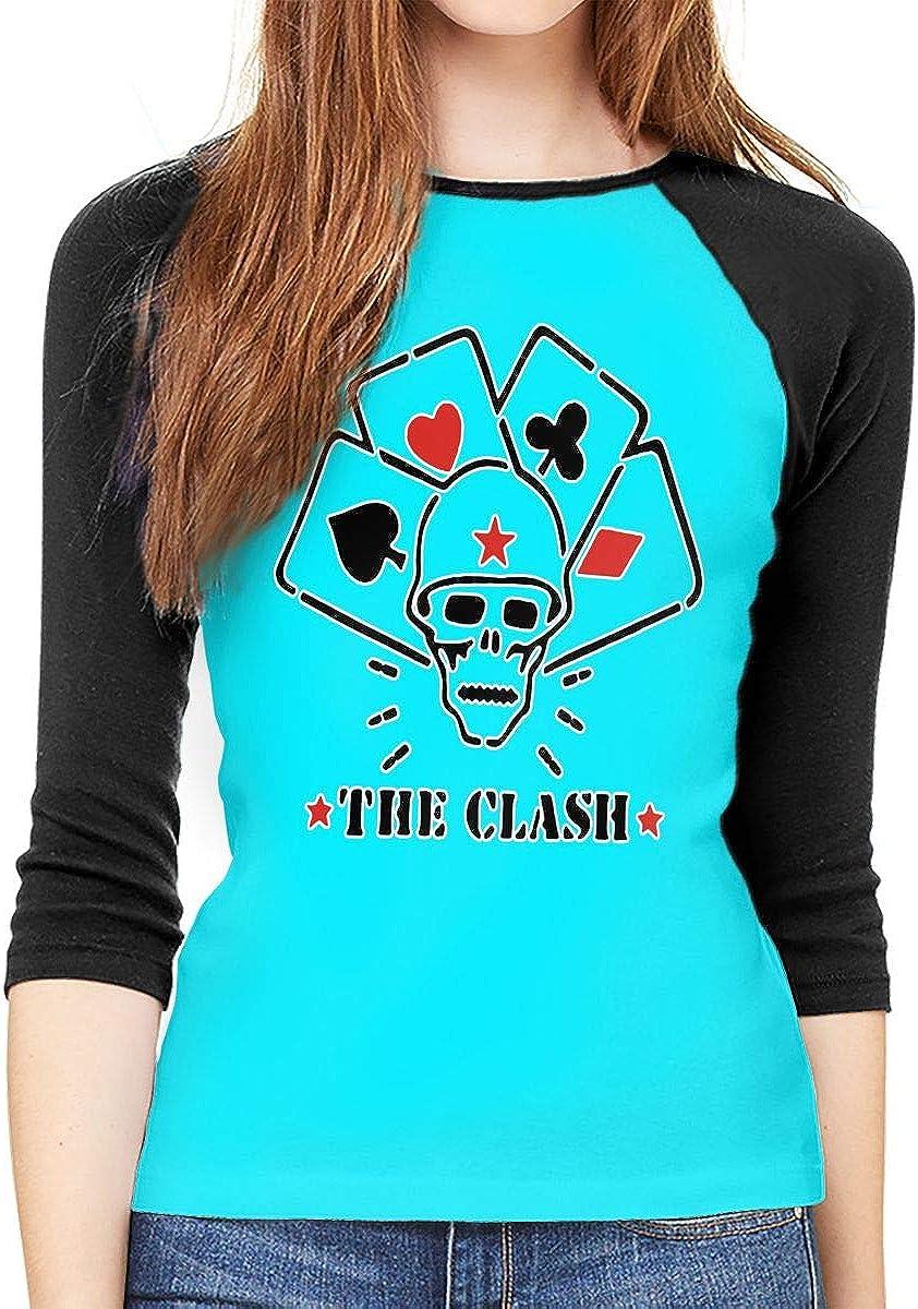 XYMYFC-E The Clash Skull Adult Womens Long Sleeve Tshirts