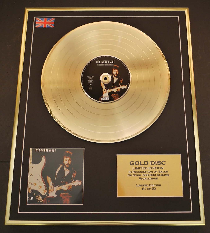 ERIC CLAPTON Goldene Schallplatte Record Limitierte Edition BlauS