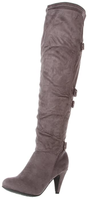 Amazon.com | Not Rated Women's Warm Up Knee-High Boot, Grey, 7.5 M ...