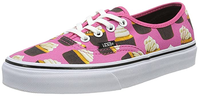 Vans Damen Authentic Sneakers Rosa mit Cupcake