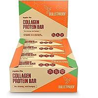 Barras a prueba de balas de proteína de colágeno, aperitivo perfecto para la dieta de keto, paleo, sin gluten, para hombres, mujeres y niños (pastel de manzana)
