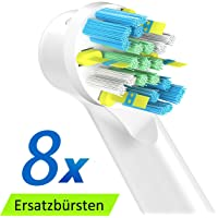 ITECHNIK FlossAction Cabezal de Recambio Para Oral-B Cepillo de Dientes Eléctrico, Floss Action cabezales para cepillos 8 Unidades
