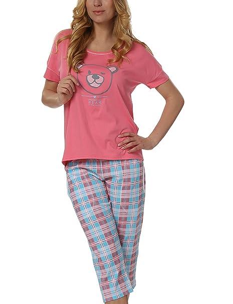 Italian Fashion IF Pijamas para mujer Sonia 0225 (Rosa, S)