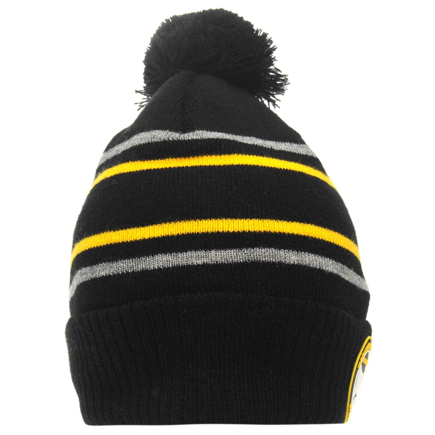 Mens Branded Lonsdale Knitted Construction 2 Stripe Beanie Hat Accessories