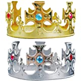 BESTOYARD 2pcs Birthday Tiara Crown Princess Prince Crown Hats Kids Party  Favors Supplies Decoration (Cross cb6615cf4cab