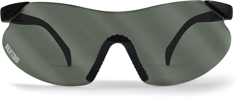 AF185 BERTONI Ballistische Schutzbrille Schie/ßbrille Anticrash und Antifog Lens Sicherheitsbrillen