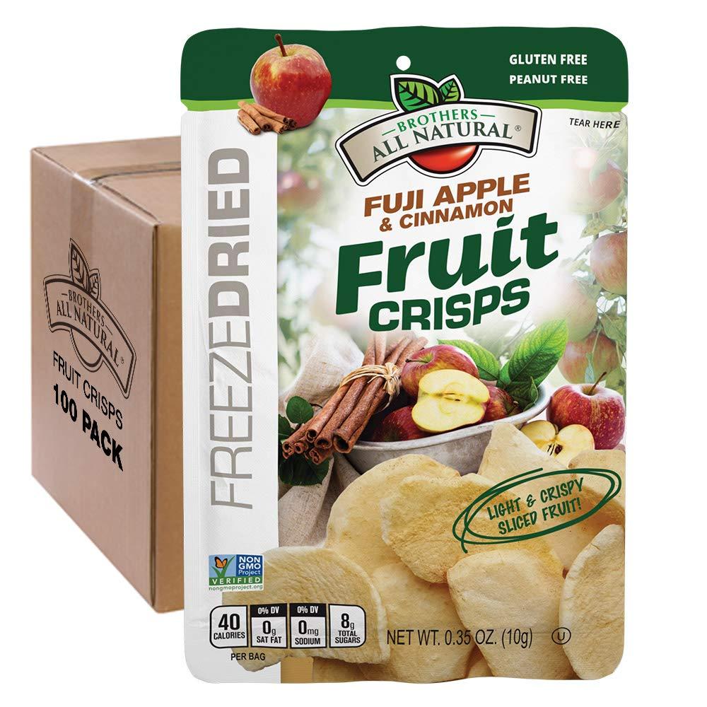Brothers-ALL-Natural Fruit Crisps, Fuji Apple & Cinnamon, 0.35 Ounce (Pack of 100) by Brothers-ALL-Natural