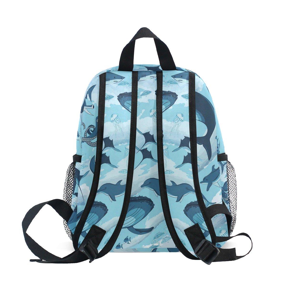 f414c081d124 TIZORAX Marine Shark Whale Octopus Dolphin Jellyfish Lightweight Travel  School Backpack for Boys Girls Kids  Amazon.co.uk  Luggage