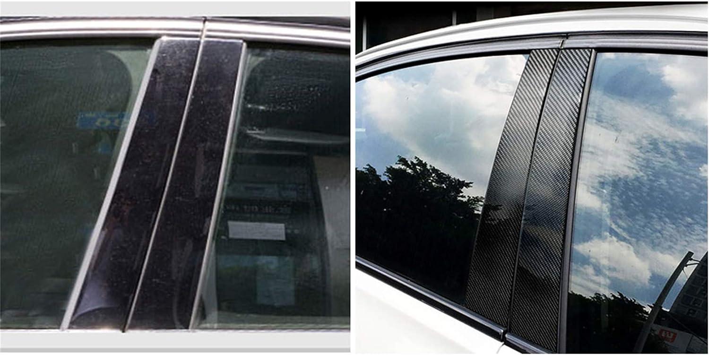 Carbon Fiber Door Window B+C Pillar Post Panel Frame Decal Cover Trim for BMW 5 Series 6th F10 F11 F18 520 523 525 528 530 535 2010-2016 5WM Classic