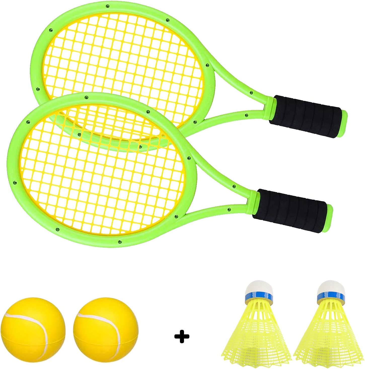 Crefotu Kids Tennis Racket, Plastic Tennis Racket Toys for Children Outdoor/Indoor Sport Game : Sports & Outdoors