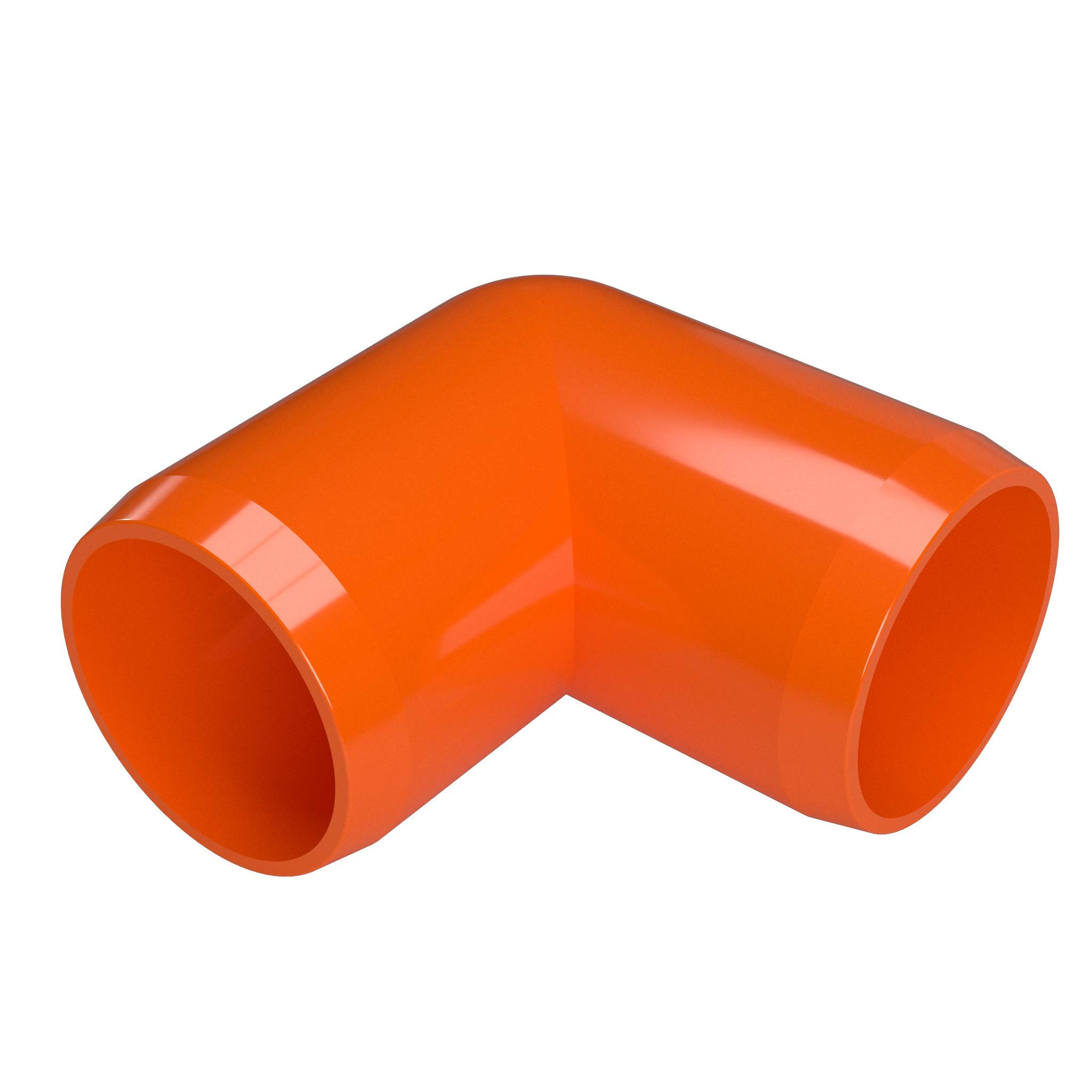 FORMUFIT F03490E-OR-8 Elbow PVC Fitting, Furniture Grade, 90 Degree, 3/4'' Size, Orange (Pack of 8)