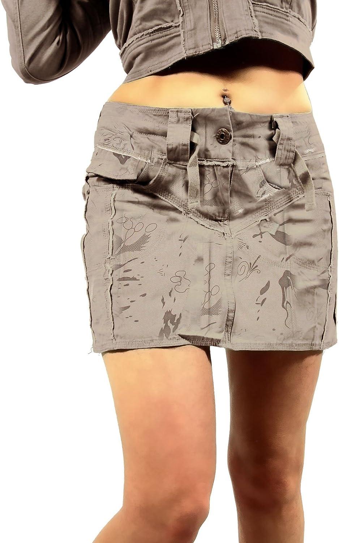 Falda Corta para Damas Cargo Safari, Camiseta Corta en el ejército ...