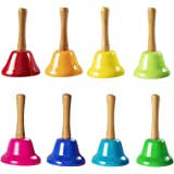 Fat Brain Toys Rainbow Music Hand Bells with Wood Handles Music for Ages 3 to 7