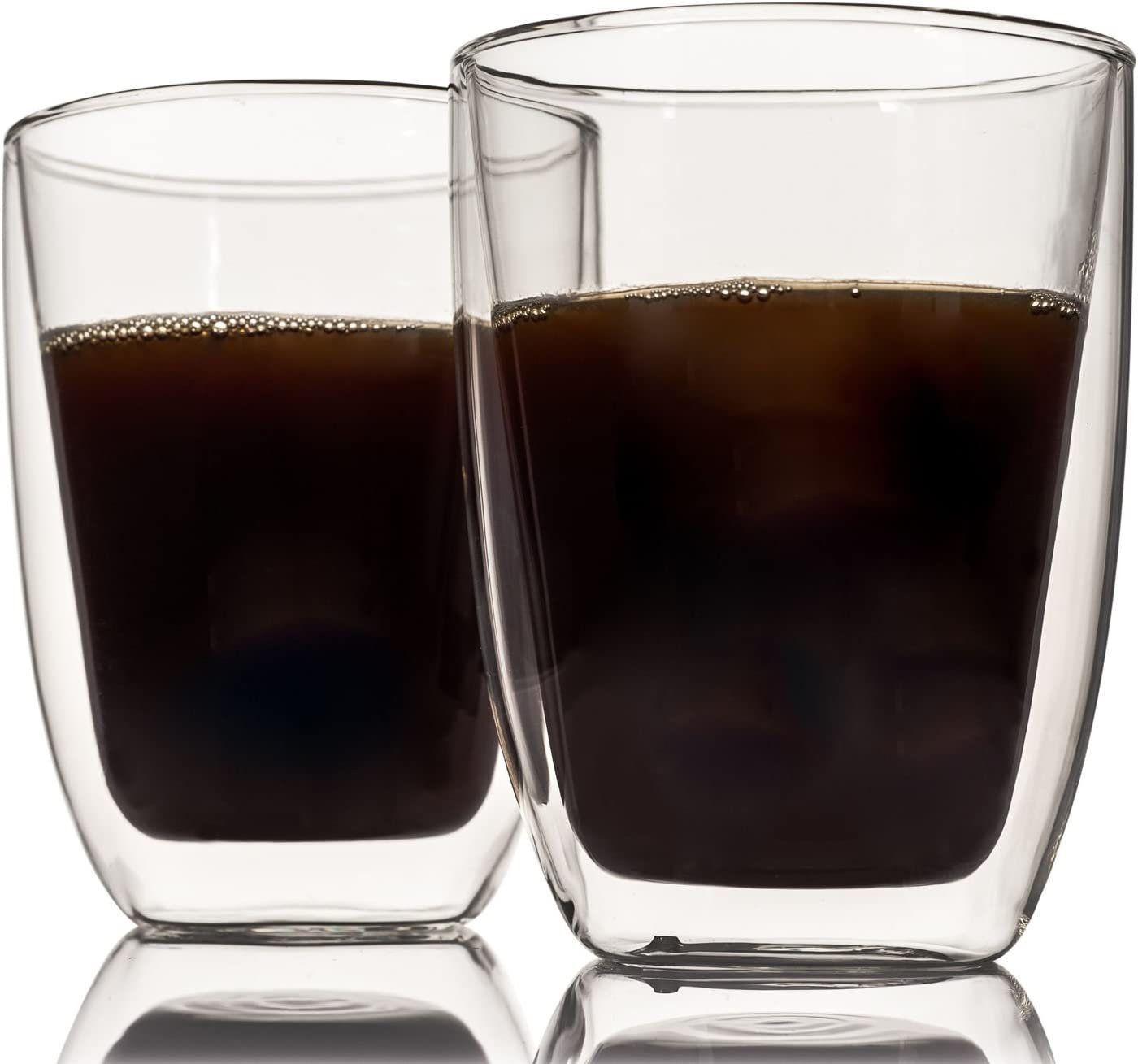 FiNeWaY@ Set of 2 Double Wall Thermo Glass Latte Tea Coffee Drink Cappuccino Cups Mugs