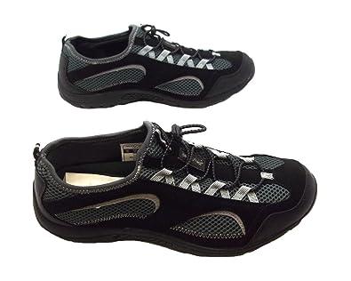 4d538869758 Size 12 Men's Bude Hi-tec Black/grey Slip On Toggle Aqua Surf Shoes: Amazon. co.uk: Shoes & Bags