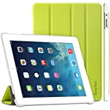 EasyAcc GOLD iPad 4 Hülle Schutzhülle Etui Tasche für Apple iPad 2/3/4 Smart Case Cover mit eingebautem Magnet für Einschlaf/Aufwach - Grün