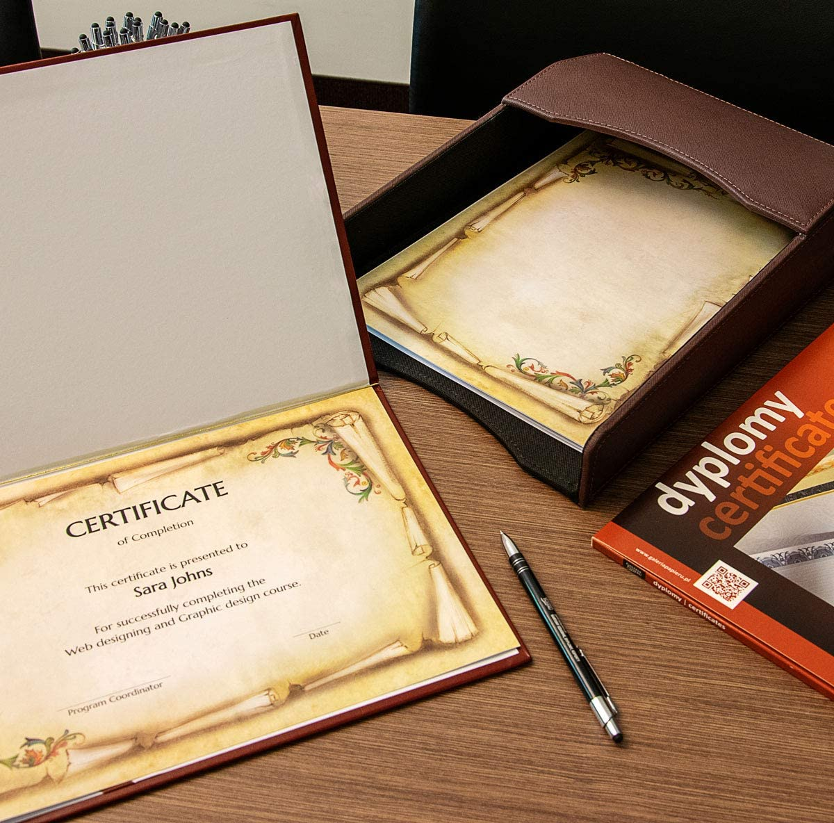Art of Creation Certificate Award A4 Premium Satin Paper /'Soplica/' 25 Blank Sheets per Pack Over Twice as Thick as Regular Paper Thick 170 GSM Page Eligible for Ink and Laser Printers