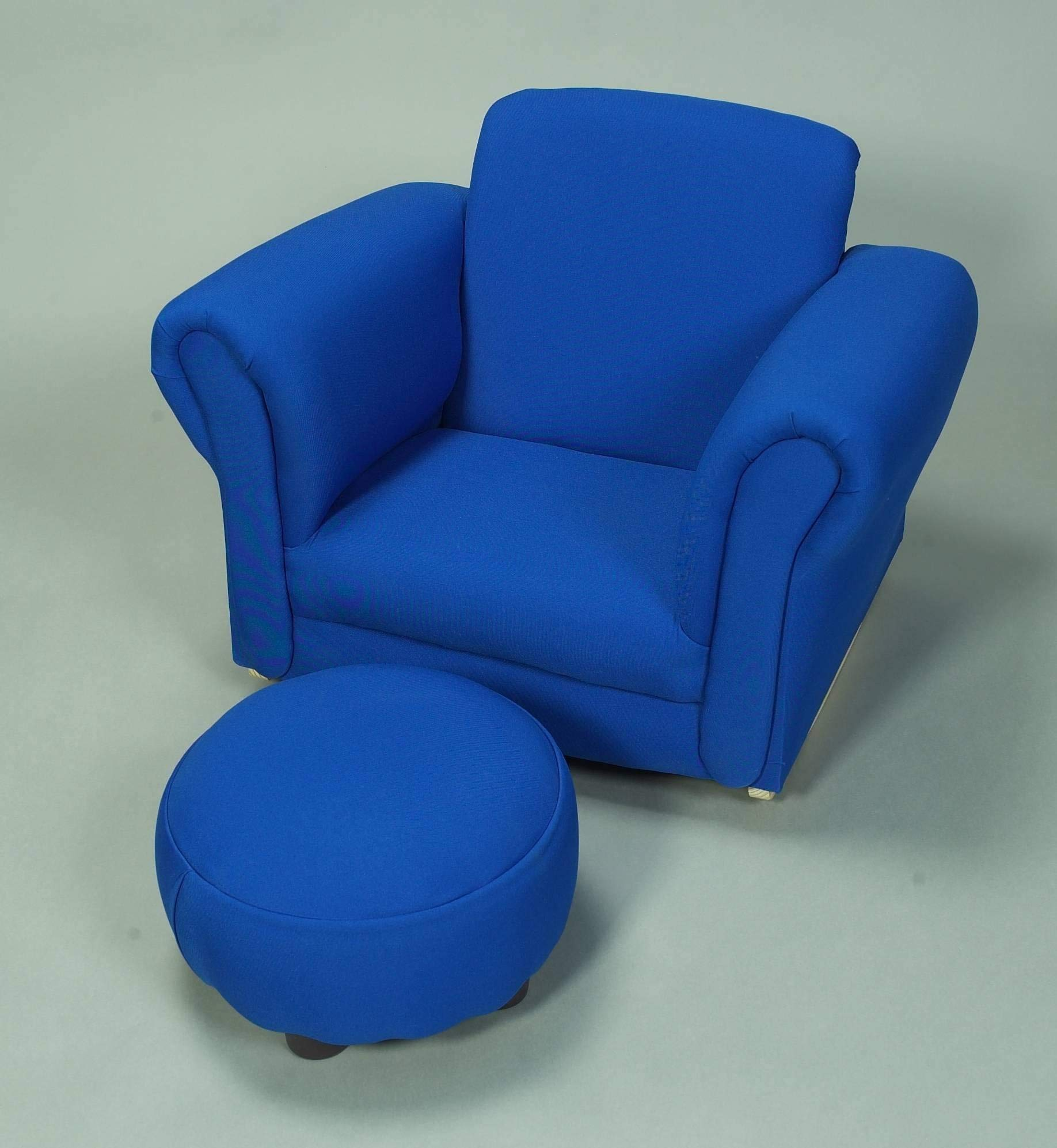 Gift Mark 6715B Upholstered Rocking Chair and Ottoman, Blue by Gift Mark