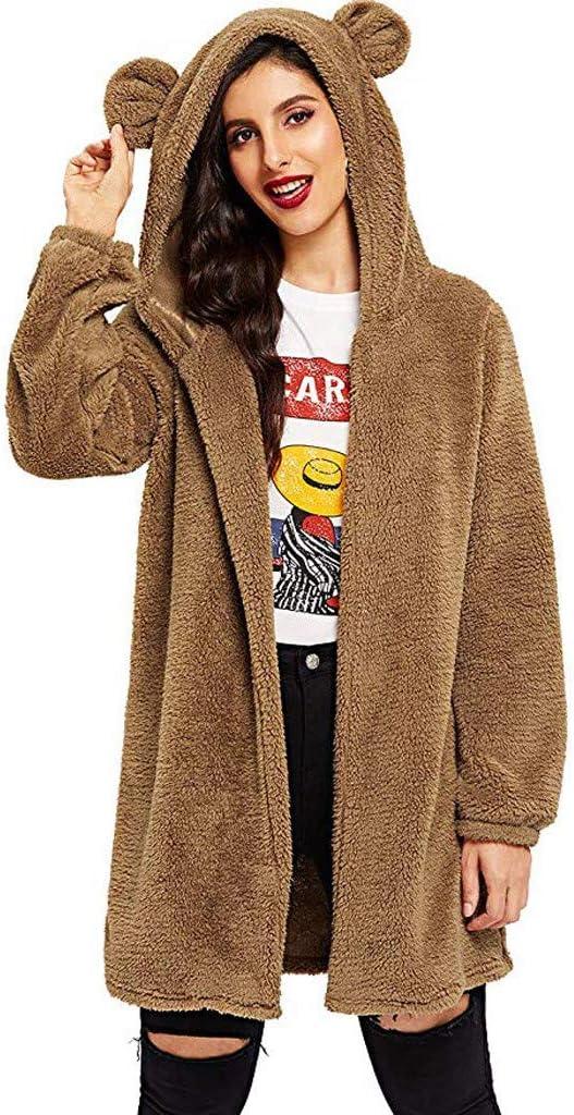 Brown Bear Ladies Cotton Sweater Cool Long-Sleeved Sweatshirt greatcoat