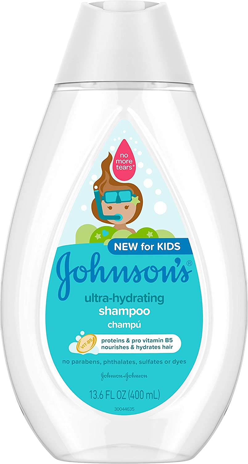 Johnson's Ultra-Hydrating Tear-Free Kids' Shampoo for Toddler's Hair, Pro-Vitamin B5, Proteins, Paraben